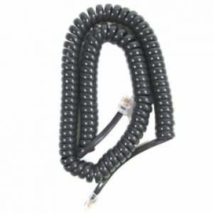 Handset Cord - 12 Foot (Black) 5 Pack