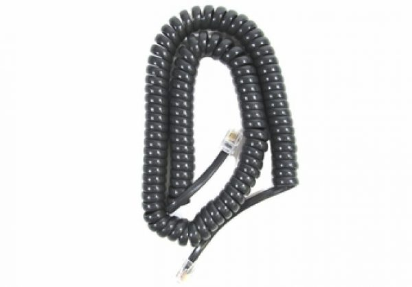 Handset Cord - 12 Foot (Charcoal Gray) 5 Pack