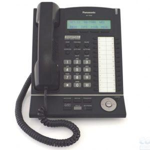 Panasonic - KXT7633B Telephone 24 Button Black Backlit Display Speakerphone