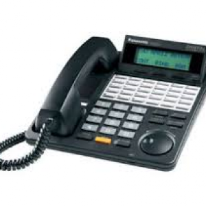 Panasonic - KXT7453B 24-Button Black Backlit Display Speakerphone