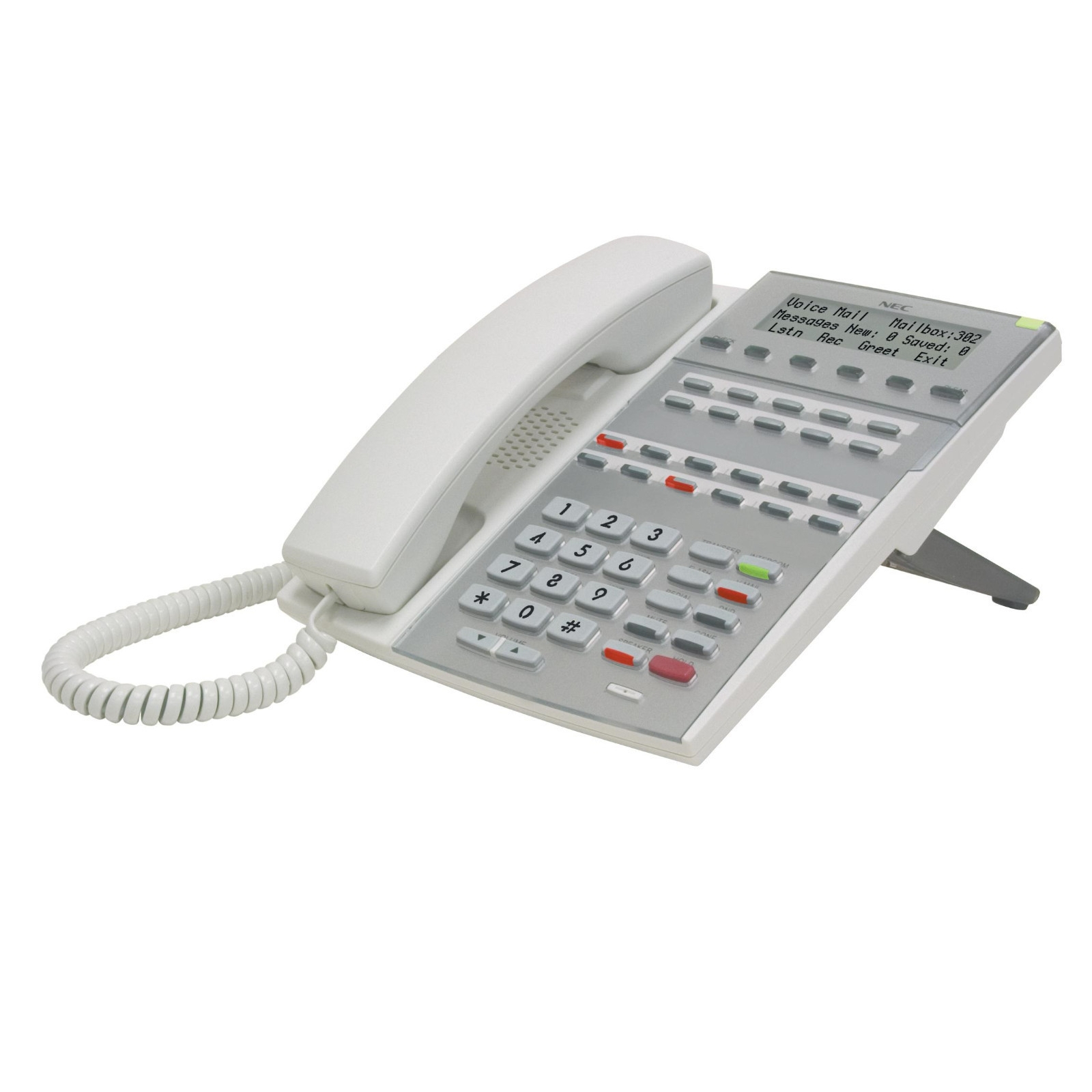 Black NEC 1090021 NEC DSX 34B Display Telephone with Speakerphone and Backlight